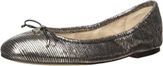 Sam Edelman Felicia 女士芭蕾平底鞋 青灰色(Pewter Metallic Leather) 8.5