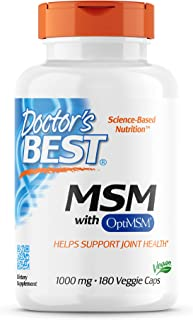 best msm, 1000 mg,180 mgie caps - doctor's best - qty 1