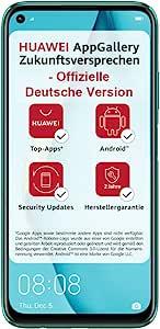 HUAWEI P40 lite Dual-SIM Smartphone Bundle (16 cm (6,4 Zoll), 128 GB interner Speicher, Android 10.0 AOSP ohne Google Play Store, EMUI 10.0.1) crush green