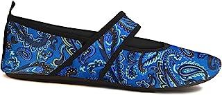 Nufoot Futsoles 女士软面鞋适用于室内/室外,可折叠和灵活的鞋子,适用于运动、锻炼、瑜伽或旅行,舞蹈鞋