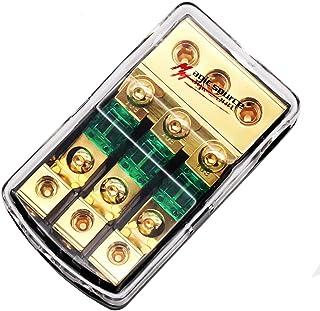Magic Source 迷你 ANL 保险丝支架 0/2/4 规格 3 向 4/8 规格 铜线模块 带 60A 迷你保险丝 适用于汽车音频分配器