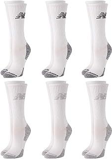 New Balance 女式袜子 – 高性能缓震中筒运动短袜(6 双装)