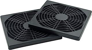 Hxchen 120 x 120mm/4.7 英寸 x 4.7 英寸 防尘 PC 防尘 烧烤保护套 适用于 PC 计算清洁风扇盖 黑色 - (2 件)