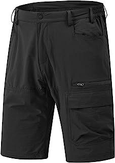 Rdruko 男式宽松工装短裤速干轻质工作高尔夫休闲短裤 5 个口袋