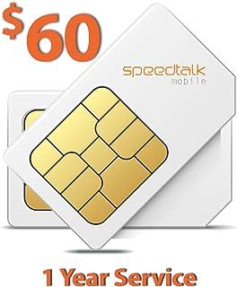 SpeedTalk Mobile 60 美元 SIM 卡适用于 GSM GPS 追踪器宠物老人儿童汽车智能手表