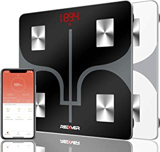 REDOVER-蓝牙体脂体重秤,免费 IOS 和 Android 应用,智能无线数字浴室体重秤,身体成分分析仪,适用于体重、体脂、水、肌肉、BMI、BMR 等,400 磅 450.00