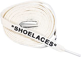 "LitLaces -""SHOELACES""平底印花替换鞋带 适用于运动鞋 米白色 36""/91cm"