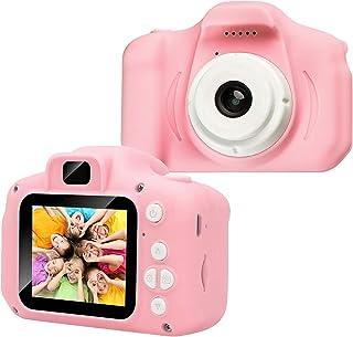儿童相机 – 儿童相机 2.0 英寸 1080P HD IPS 屏幕 内置32 GB SD卡 USB 可充电儿童玩具相机 适合 3-10 岁男孩女孩生日礼物