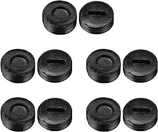10 件 12 毫米 OD 外螺纹塑料电机碳刷支架盖黑色