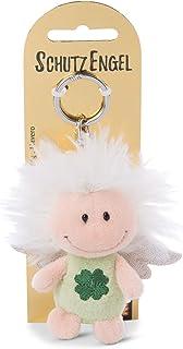 NICI 钥匙扣守护天使,带三叶草和闪光翼 7 厘米 - 幸运符 天使 钥匙链 - 46123