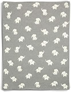 Mamas & Papas Welcome to The World Super Soft 婴儿毯,80 x 100厘米,灰色/白色
