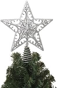 Gerson Glistening Christmas 星假日树垫 银色