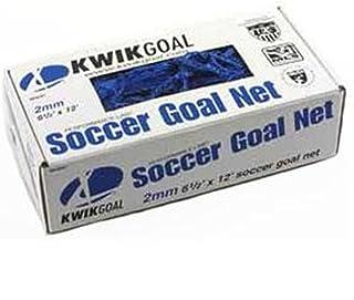 kwik ziel junior recreational soccer net (蓝色 – 6 '12.7 cm h x 12' wx2 'dx6' b)