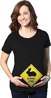 孕妇兔子区 T 恤可爱迎婴派对复活节怀孕通告T恤