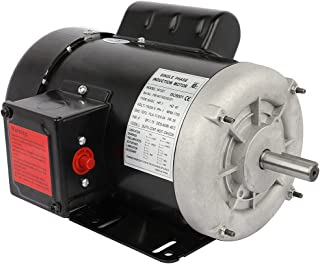 Cuilvu 1HP 空气压缩机电动机,单相农业机,5/8轴直径 CW/CCW,TEFC,IP55,60HZ,1750RPM,115/230V