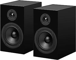 Pro-Ject 扬声器 5 双向书架扬声器 带高保真低音反射调节 钢琴漆(黑色)