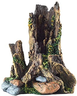 OMEM 爬虫装饰水族馆栖息地装饰树树树箱洞水族馆鱼缸装饰