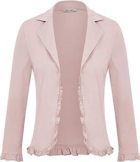 GRACE KARIN 女式办公室休闲短款夹克开襟开衫