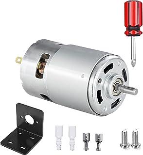 775 直流电机,12V-24V 3500-9000 RPM 15000-25000 RPM 迷你电动机,双滚珠轴承大扭矩大功率电机适用于 DIY 零件(3500-9000 RPM)