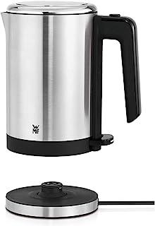 WMF 福腾宝 厨房电热水壶(1800 W, 0.8L, 旅行用电热水壶, 无线茶壶, 自动停止功能),cromargan不锈钢,亚光/银