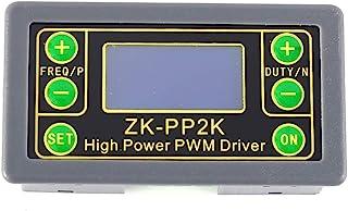 ZK-PP2K 信号发生器,脉冲频率发生器 8A 驱动模块 LCD 脉冲频率循环模块 1Hz-150KHz 电机控制器 LCD 显示屏