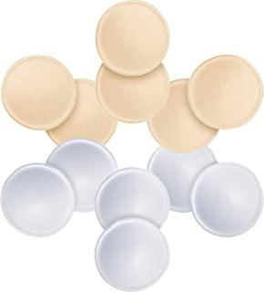 6 对圆形文胸插入垫,URSMART 可拆卸和可水洗文胸罩杯衬垫比基尼上衣泳衣运动文胸