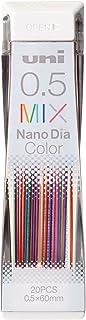 MITSUBISHI 三菱铅笔 可擦彩色笔芯 纳米钻颜色 0.5 混合 10支 U05202NDCMIX