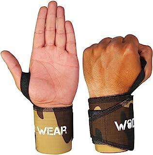 WOD 戴腕带拇指环(厚实)由 Great Wrist 支撑,适合交叉训练、举重、力量、*、健身、奥林匹克举重 - 均码