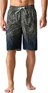 NONWE 男式沙滩装速干条纹沙滩裤