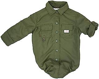 Bull Red 男婴 PFG 透气钓鱼衬衫纽扣连体衣(8 种颜色可选)