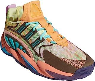 adidas 阿迪达斯 男式 Crazy BYW 2-0 篮球黄色/粉笔珊瑚/微量紫色
