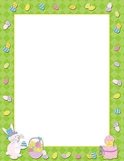 优质纸张! 复活节小鸡字母头,8.5 英寸 x 11 英寸,80 张 (2017029) Easter Time 80 Sheets