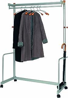 Alba 外套和服装架移动可锁定脚轮容量 40-50 衣架 W1200xD600xH1800mm Ref PMLUXWL6