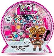 L.O.L. Surprise! Horizon Group Usa Secret Message 珠寶,DIY珠寶制作工藝套件,包括400多種珠子和吊飾,貼紙,秘密裝飾等。 多色