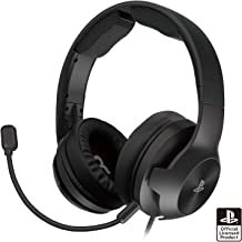 【已确认PS5操作】游戏耳机 高级 for PlayStation®4 黑色【SONY许可商品】