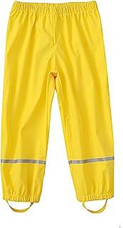 M2C 男孩和女孩反光防水雨裤轻质雨衣