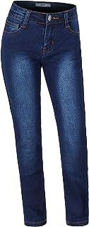 2LUV 女孩青春弹性 5 袋直筒牛仔裤,带可调腰带