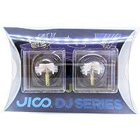 JICO 唱针 SHURE N44-7/DJ用替换针 【2件套】 圆针 带针套 192-44-7/DJ two-piec…