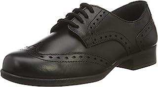 Term 女孩 Meghan 皮革粗革皮鞋