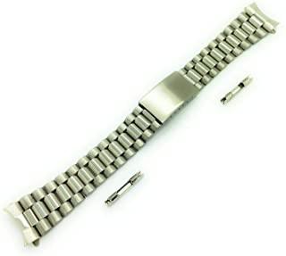 20 毫米银色不锈钢金属表带