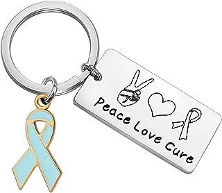 WSNANG 蓝色丝带*意识支持珠宝和平爱**意识钥匙扣*意识战士礼物