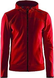 Craft Sportswear 男士休闲全拉链训练运动连帽夹克:休闲/运动/户外/保护/外部