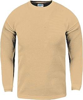 Shaka Wear 儿童华夫格保暖长袖圆领 T 恤 XXS-XL 码