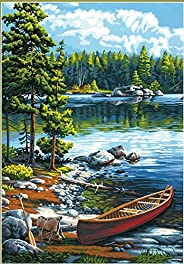 Dimensions Paintworks Paint by Number Kit Canoe by The Lake