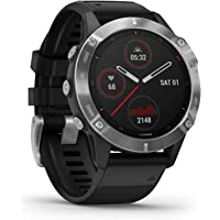 Garmin fēnix6 Ultimate Multisport GPS手表,V02 Max调整热量和海拔高度,集中脉…