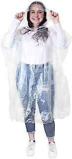 全新成人中性款 RAIN 斗篷风帽可重复使用透明