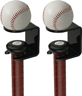 Cosmos 2 件套亚克力棒球棒壁挂式垒球壁挂支架支架支架适用于蝙蝠和球垂直显示在家里、棒球场、储物柜