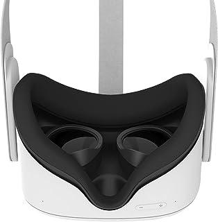 AMVR [专业版] 镜片防刮环保护近视眼镜免受刮伤 VR 耳机镜头兼容 Oculus Quest 2、Quest 、Rift S 或 Oculus Go (黑色)