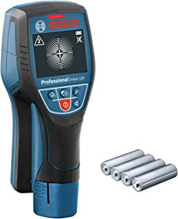 Bosch 博世 D-tect 120 专业墙壁探测器(4节AA电池,塑料管/木质下部结构/带电电缆/黑色金属的至大探测深度:60/38/60/120/120mm)