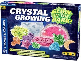 Thames & Kosmos 水晶生长: 夜光科学套装 | 12 个实验,年龄 10 岁以上 | 了解结晶| 生长水晶和水晶大地在黑暗中发光 | 32 页手册